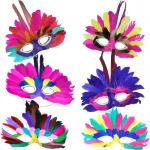 Loup Masque Plumes Couleurs Assorties