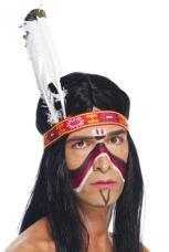bandeau indien avec plumes