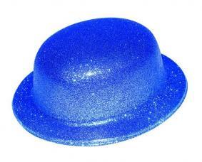 chapeau melon turquoise paillete