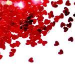 Déguisements Confettis Coeur Rouge