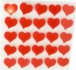 Carte de 25 pins lumineux coeur rouge