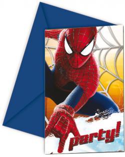 Cartes Invitations Spiderman + Enveloppes
