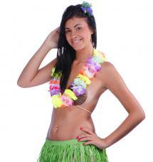 collier hawaien fleurs neon