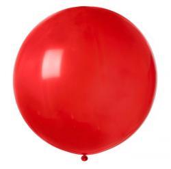 Ballon géant rond rouge pas cher