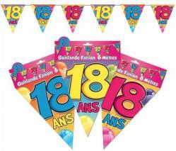 Guirlande anniversaire fanions 18 ans