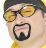 Moustache et bouc rappeur noir