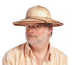 chapeau explorateur colonial paille
