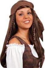 perruque pirate dame avec fichu