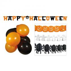 kit d corations halloween vitrine pas cher. Black Bedroom Furniture Sets. Home Design Ideas