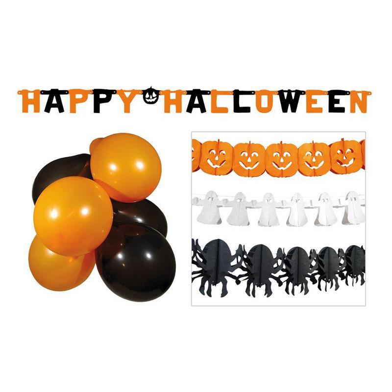 kit d corations halloween vitrine pas cher. Black Bedroom Furniture Sets. Home Design Ideas