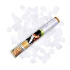 canon a confettis petales de rose couleur blanc