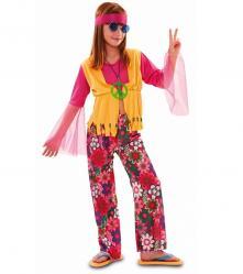 Déguisement hippie flower power pour fille pas cher