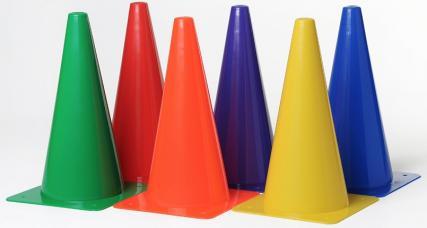 cone de delimitation plein 30 cm