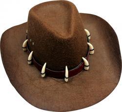 Chapeau Dundee avec Dents de Croco
