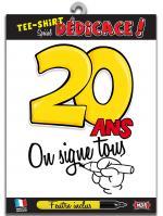 T-shirt Spécial Dédicace 20 ans