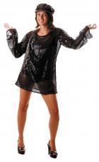 deguisement robe paillette noire