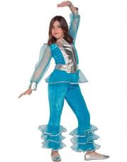 deguisement disco pour fille bleu