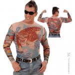 Tee-Shirt Tatouage Tigre Et Dragon Homme
