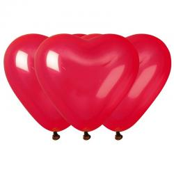 sachet de 10 ballons coeur rouge pas cher