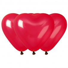 sachet de 10 ballons coeur rouge