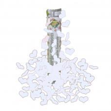 canon a confettis coeur blanc