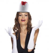 chapeau majorette blanc