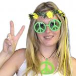 Paire de lunettes Peace and Love