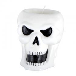 Bougie crâne halloween pas cher