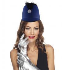 chapeau majorette bleu