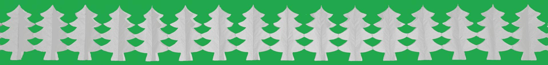 guirlande sapin blanc en papier ignifuge