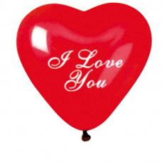 sachet de ballons coeur i love you