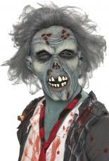 masque zombie cheveux gris