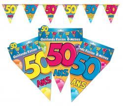 Guirlande anniversaire fanions 50 ans