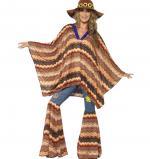 Déguisements Poncho Hippie Femme