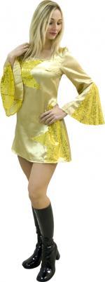Déguisements Robe Disco Femme Or