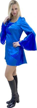 Déguisements Robe Disco Femme Bleu