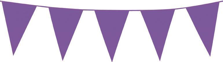 guirlande fanions violets plastique