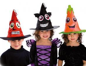 chapeau enfant visage halloween assortis