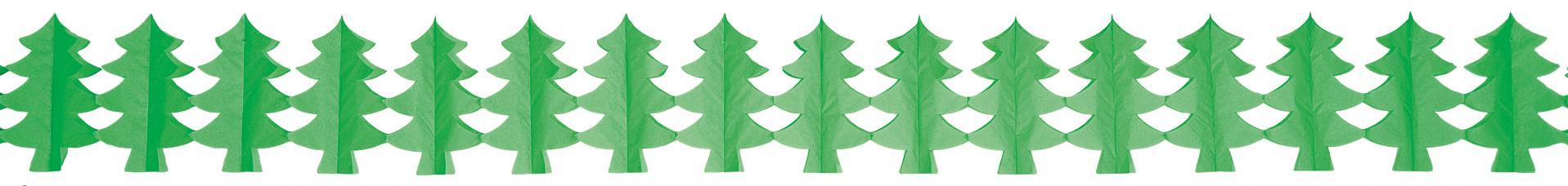 guirlande sapin vert en papier ignifuge
