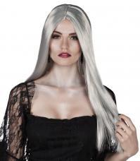 perruque sorciere samantha grise