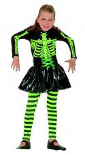 costume squelette fuo fille halloween