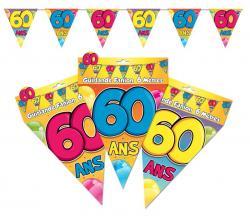 Guirlande anniversaire fanions 60 ans