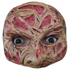 demi masque visage brule