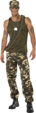 Déguisement Militaire Section 9 Homme