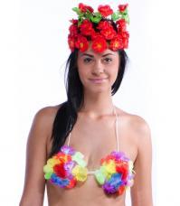 soutien gorge top fleurs hawaienne