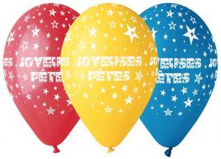 Sachet de Ballons Joyeuses Fêtes