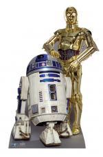 figurine geante carton R2-D2 et C3P-O