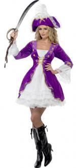 Déguisement Beauté Pirate Violette
