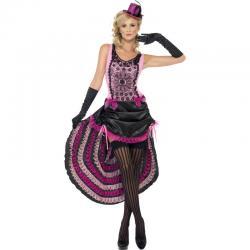 Déguisement Burlesque Rose et Noir