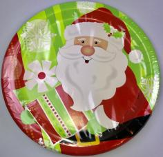assiettes carton pere noel